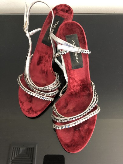 Dolce&Gabbana Formal Studded Leather Red, silver, black Pumps