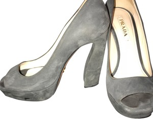 Prada Grey Gray Platforms
