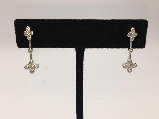 Other White gold diamond cross shaped earring