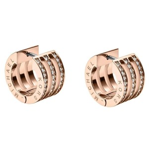 Michael Kors NWT Michael Kors Rose Gold Motif Bar Huggie Hoop Earrings MKJ3769791