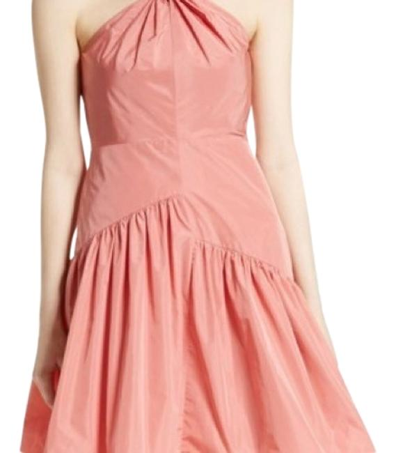 Preload https://img-static.tradesy.com/item/24189508/rebecca-taylor-coral-knot-neck-taffeta-mid-length-short-casual-dress-size-12-l-0-2-650-650.jpg