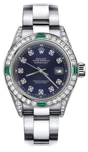 Rolex Rolex Navy 31mm Datejust Diamond lugs & Emerald