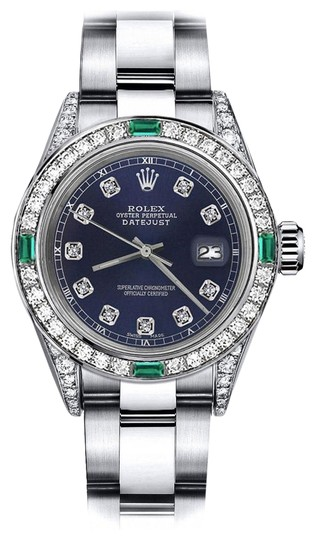 Preload https://img-static.tradesy.com/item/24189515/rolex-stainless-steel-navy-31mm-datejust-diamond-lugs-and-emerald-watch-0-1-540-540.jpg