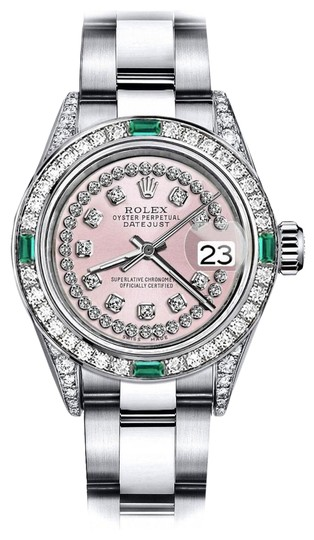 Preload https://img-static.tradesy.com/item/24189572/rolex-stainless-steel-pink-string-31mm-datejust-diamond-lugs-and-emerald-watch-0-1-540-540.jpg