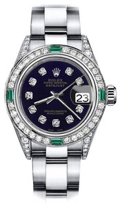 Rolex Rolex Purple 31mm Datejust Diamond lugs & Emerald