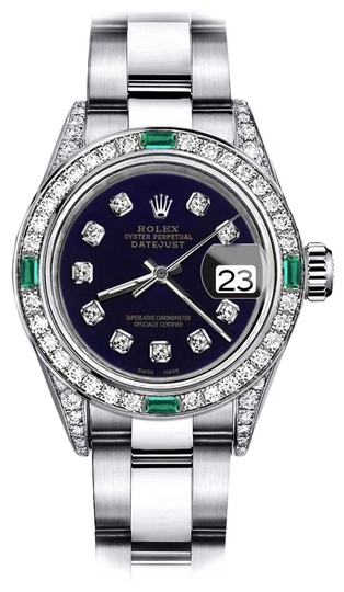 Preload https://img-static.tradesy.com/item/24189581/rolex-stainless-steel-purple-31mm-datejust-diamond-lugs-and-emerald-watch-0-1-540-540.jpg
