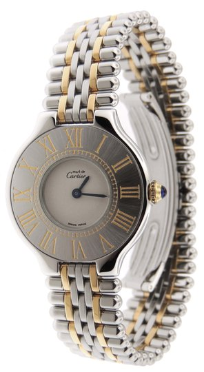 Preload https://img-static.tradesy.com/item/24189587/cartier-silver-near-mint-ladies-must-21-bullet-18k-yellow-goldss-28mm-watch-0-0-540-540.jpg
