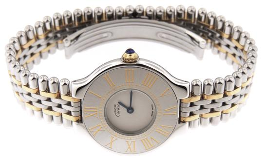 Cartier Near Mint Ladies Cartier Must 21 Bullet 18K Yellow Gold/SS 28mm Watch