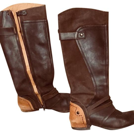 Preload https://img-static.tradesy.com/item/24189598/kelsi-dagger-brown-and-tan-janya-bootsbooties-size-us-10-regular-m-b-0-1-540-540.jpg