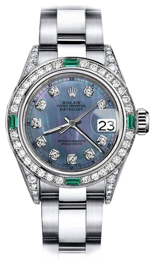Preload https://img-static.tradesy.com/item/24189630/rolex-stainless-steel-tahitian-pearl-31mm-datejust-diamond-lugs-and-emerald-watch-0-1-540-540.jpg