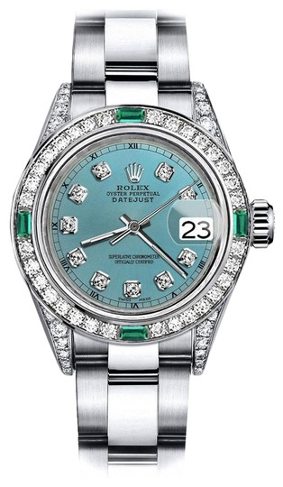 Preload https://img-static.tradesy.com/item/24189638/rolex-stainless-steel-turquoise-31mm-datejust-diamond-lugs-and-emerald-watch-0-1-540-540.jpg