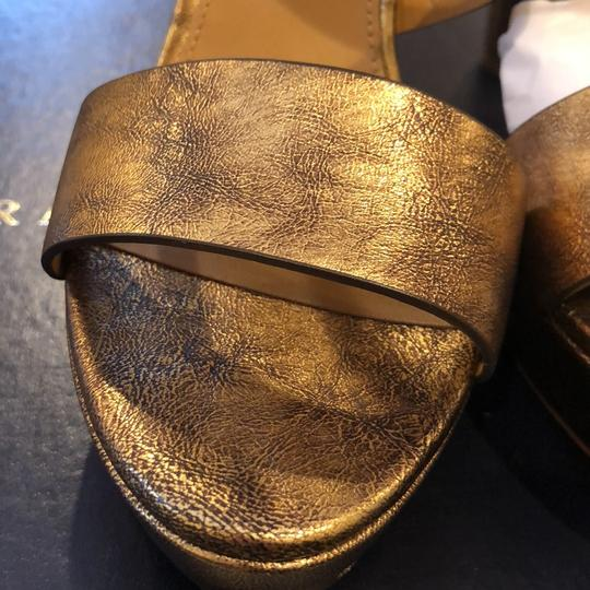 Ralph Lauren Blue Label Gold Platforms