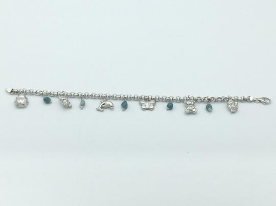 Other White gold & turquoise charmed anklet