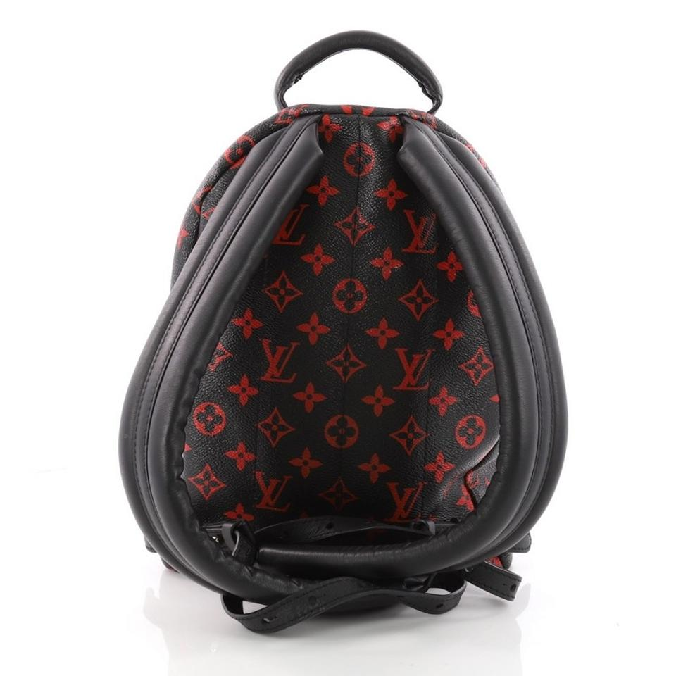 18e3e3ba763b Louis Vuitton Palm Springs Limited Edition Monogram Infrarouge Pm Black and  Red Canvas Backpack - Tradesy