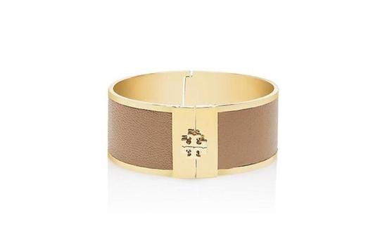 Tory Burch Tory burch brown leather inlay cuff bracelet with Dust Bag