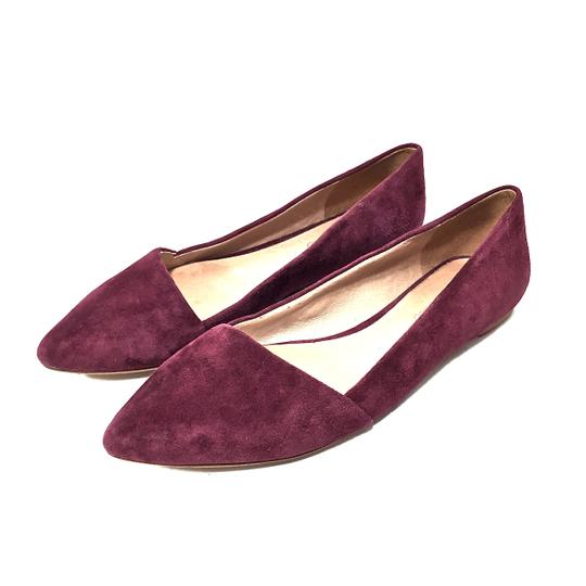 Preload https://img-static.tradesy.com/item/24189721/madewell-maroon-suede-pointed-flats-size-us-75-regular-m-b-0-0-540-540.jpg