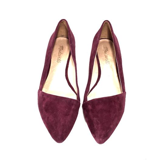 Madewell Suede Pointed Toe Maroon Flats