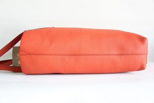 Burberry Embossed Tote in Orange