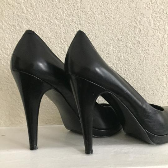 Nine West Leather Black Pumps