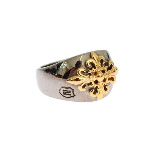 Silver / Gold D18878-1 Plated 925 Ring (Eu 60 / Us 10) Men's Jewelry/Accessory