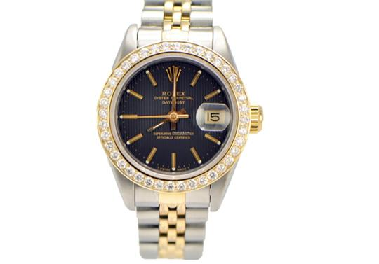 Preload https://img-static.tradesy.com/item/24189774/rolex-two-tone-ladies-datejust-2-tone-diamond-bezel-69173-black-dial-watch-0-0-540-540.jpg