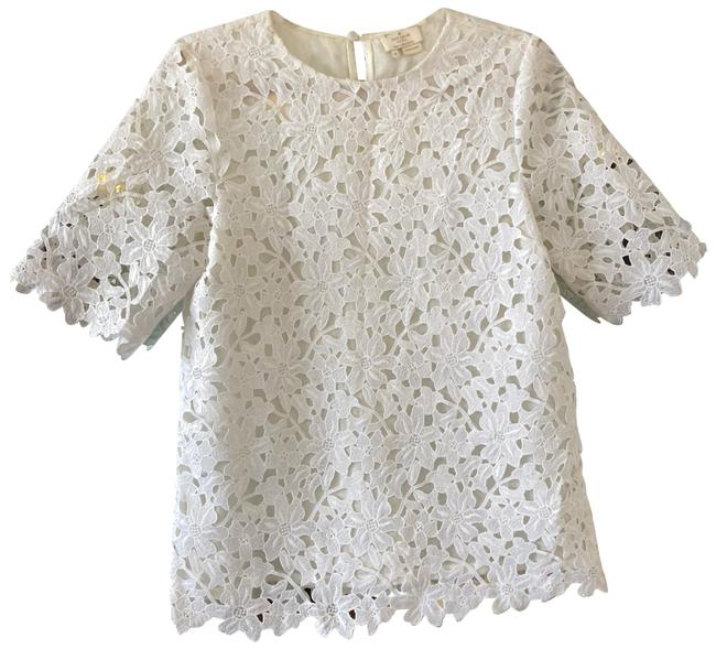 Preload https://img-static.tradesy.com/item/24189804/kate-spade-white-daisy-blouse-size-8-m-0-1-650-650.jpg