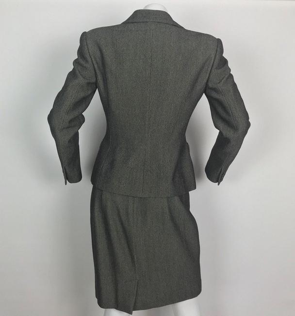 Ralph Lauren Collection Ralph Lauren Collection Skirt Suit Jacket wool gray Career Size 6 8