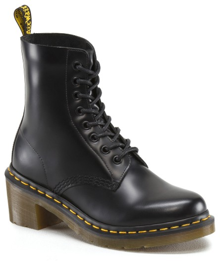 Dr. Martens Leather Smooth Lace Up Black Boots