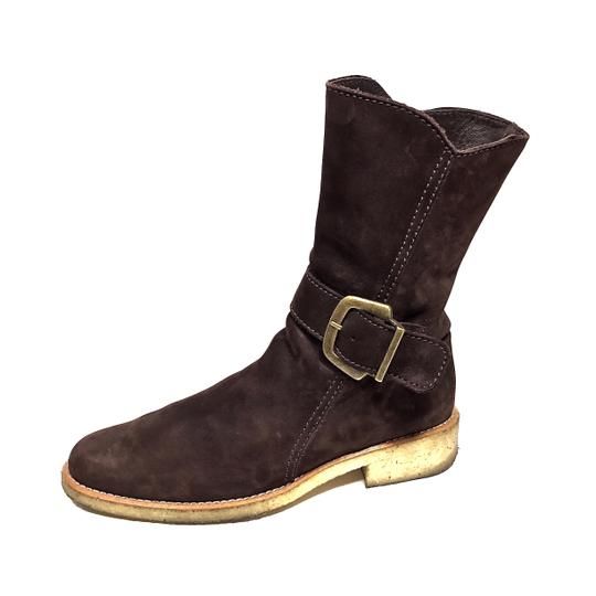 Arche Nubuck Midcalf Gold Hardware Brown Boots