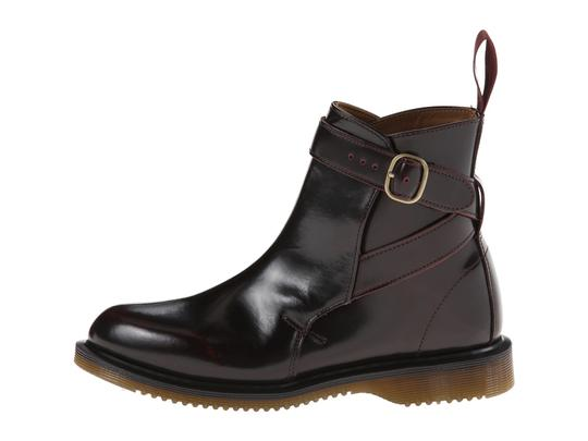 Dr. Martens Leather Chelsea Pull On Cherry Red Arcadia Boots