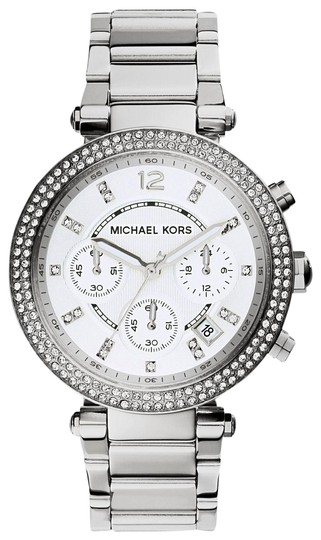 Preload https://img-static.tradesy.com/item/24189871/michael-kors-silver-and-women-s-mk5353-watch-0-1-540-540.jpg