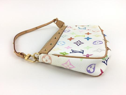 Louis Vuitton Canvas Leather Pochette Wristlet in Multicolor