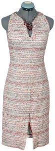 Carolina Herrera Tweed Shimmer Sheath Slit Dress