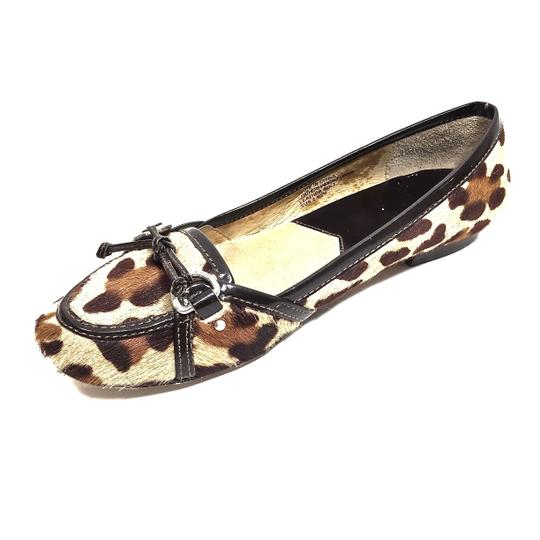 MICHAEL Michael Kors Calf Hair Loafer Leopard Flats