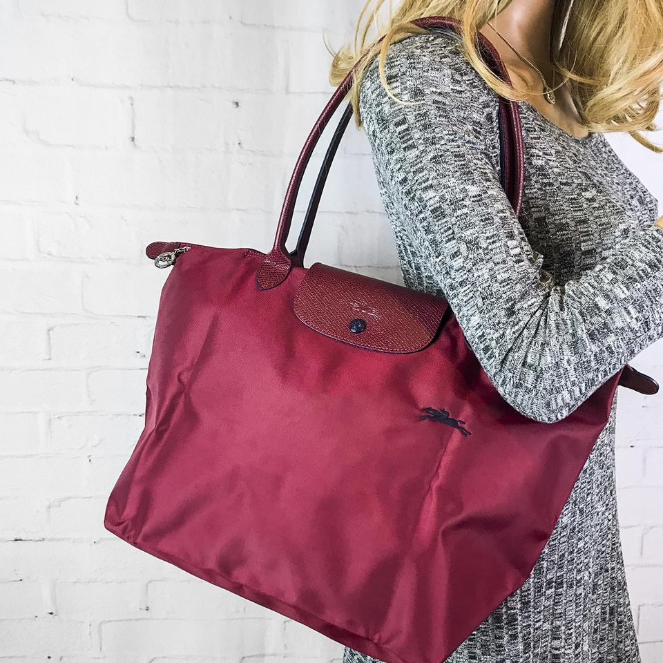 9a1355ea45ba Longchamp Pliage Club Large Tote in Red Image 11. 123456789101112