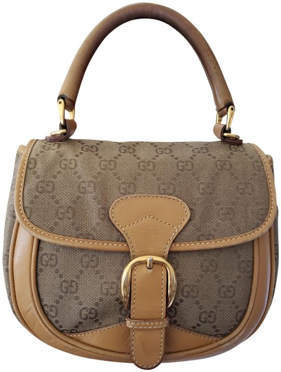 Preload https://img-static.tradesy.com/item/24189999/gucci-vintage-mini-tan-canvasleather-satchel-0-3-540-540.jpg