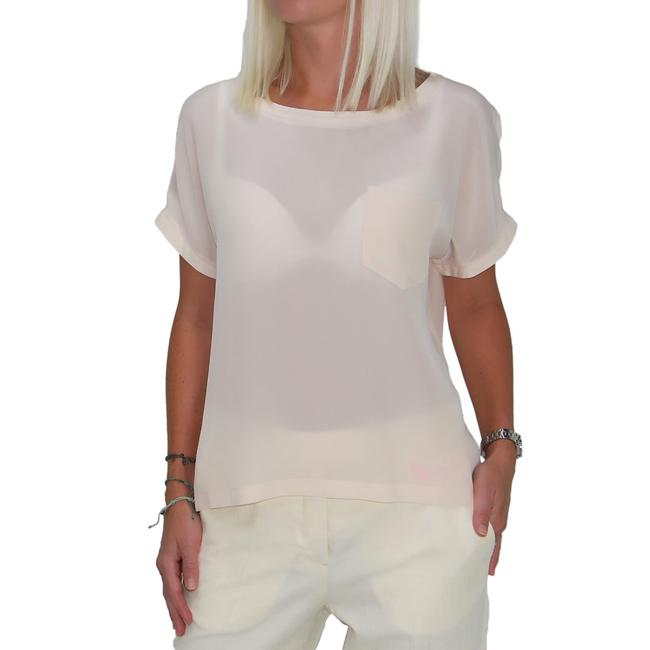 See by Chloé Boxy Silk Top Beige Peach