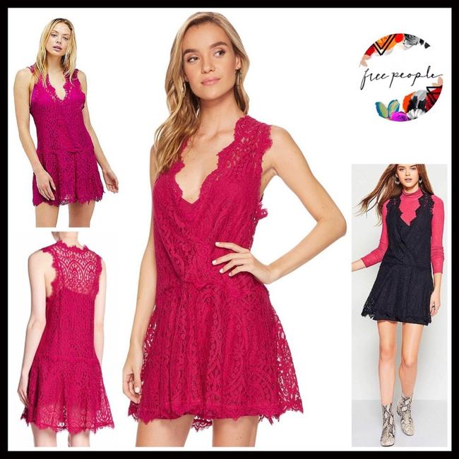 Free People short dress Raspberry, Pink on Tradesy