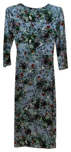 ERDEM short dress blue with green wine flowers on Tradesy