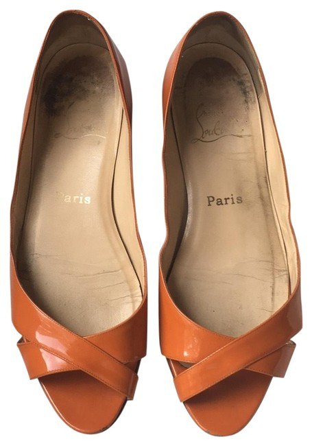 Item - Orange Patent Leather Flats Size EU 39 (Approx. US 9) Regular (M, B)