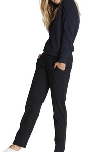 Kit and Ace Straight Pants Black