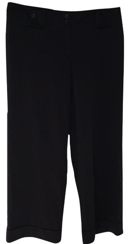 69f95ccdd27 Ann Taylor Black Signature Fit Fully Lined Trouser Hemmed Pants Size ...