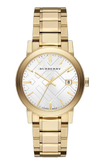Burberry Burberry The City 38mm Round Steel Gold BU9003 Swiss Made Watch Image 0
