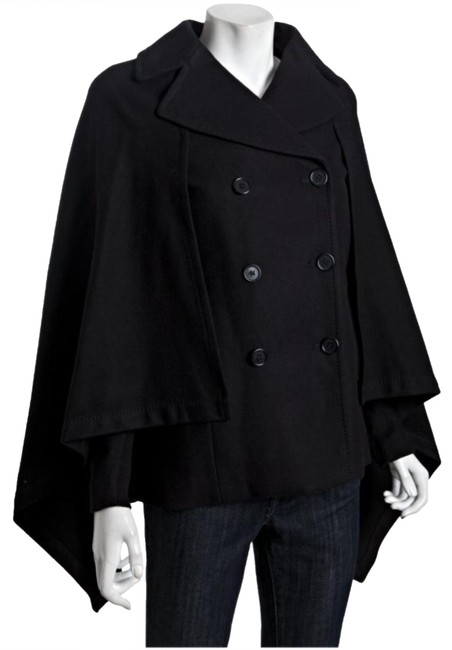 Item - Black Double Breasted with Cape Coat Size 0 (XS)
