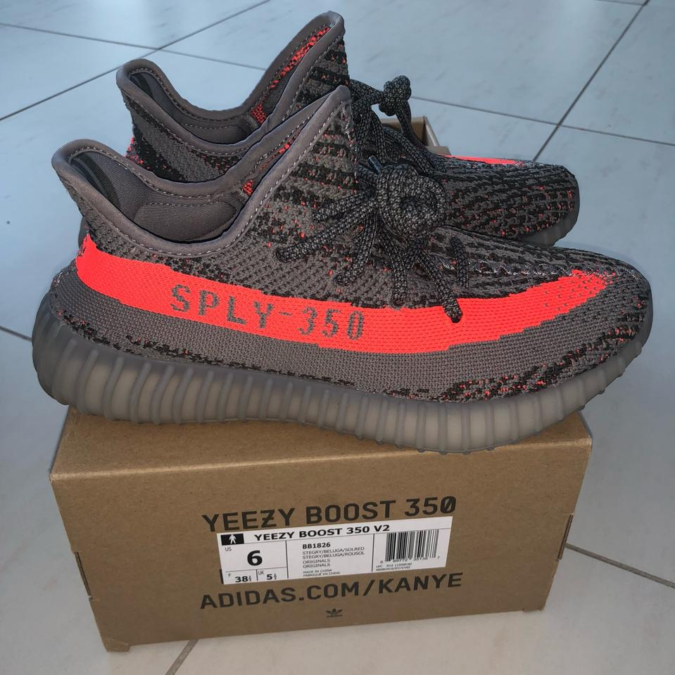 timeless design 9d1d2 f17f9 YEEZY Gray Boost 350 Beluga V1 Sneakers Size US 6 Regular (M, B) 43% off  retail