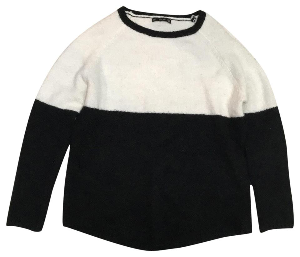 2c88bd76c2 Zara Knit and Blended Black White Sweater - Tradesy
