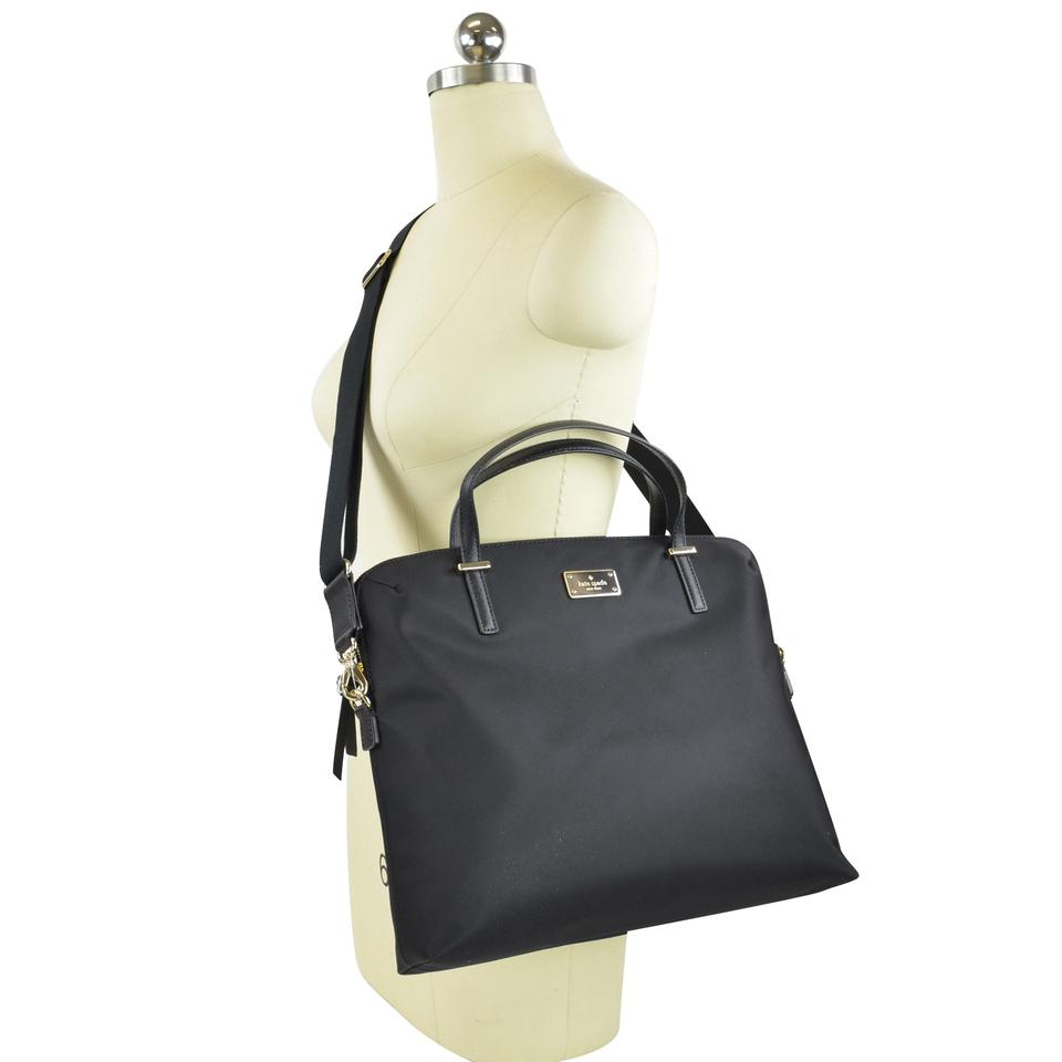 the best attitude c50f0 ad318 Kate Spade Crossbody Daveney Wilson Wkru4917 Black Nylon Laptop Bag 53% off  retail