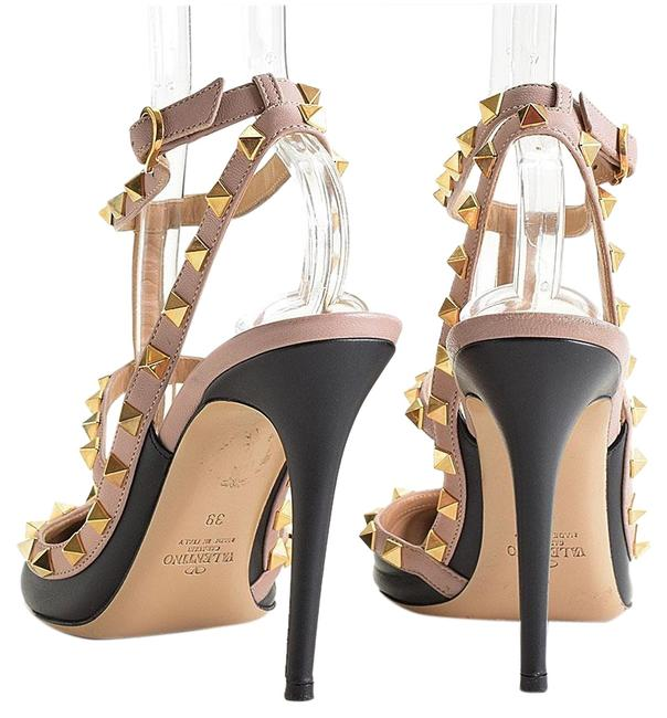 Item - Black/Pink Valentino Black/Powder Rockstud Cage Heels Formal Shoes Size EU 39 (Approx. US 9) Narrow (Aa, N)