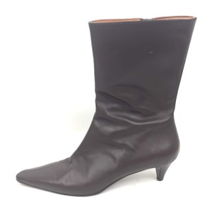 J.Crew Midcalf Leather Brown Boots