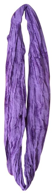 Item - Purple Linen Tie Dye Circle Scarf/Wrap